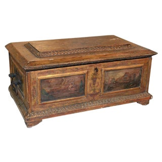 Rare 19th C. Italian Painted Coffer