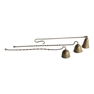 Etched Brass Candle Snuffs - Set of 3 For Sale