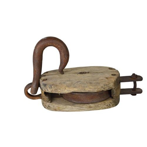 Vintage Rustic European Barn Pulley - Image 2 of 7
