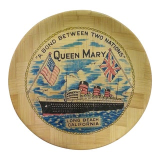 Vintage Bamboo Queen Mary Tray For Sale