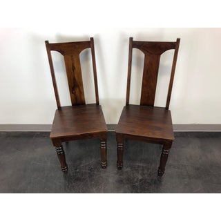 Solid Mango Wood Dining / Kitchen Chairs - Pair 2 Preview