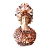 Image of La Sirena Seashell Bust For Sale
