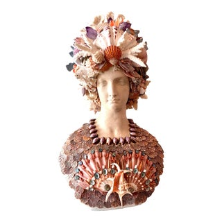 La Sirena Seashell Bust For Sale