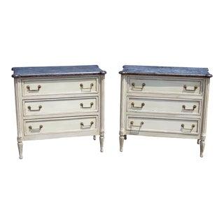 Pair of Louis XVI Style Commodes Attr Maison Jansen For Sale