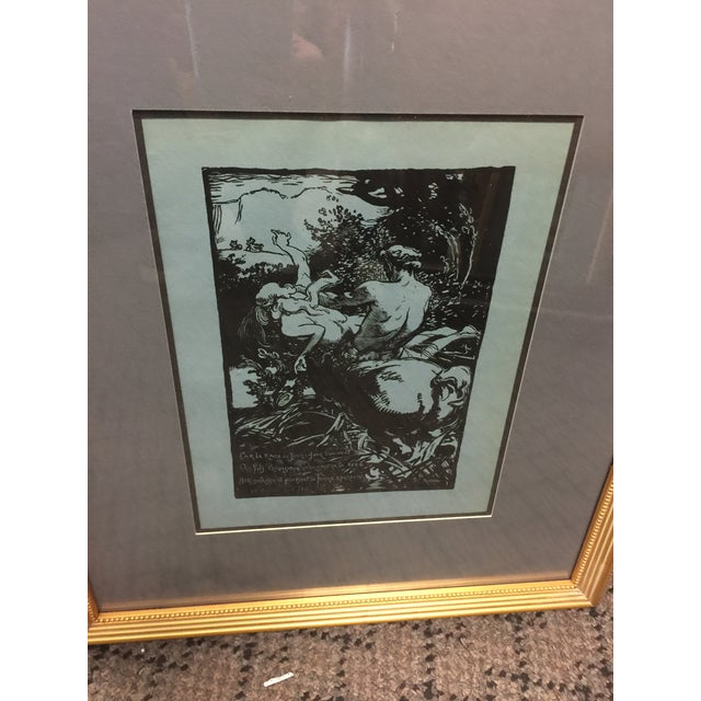 Auguste Lepere Woodcut Le Trophee Circa 1900 For Sale - Image 4 of 5