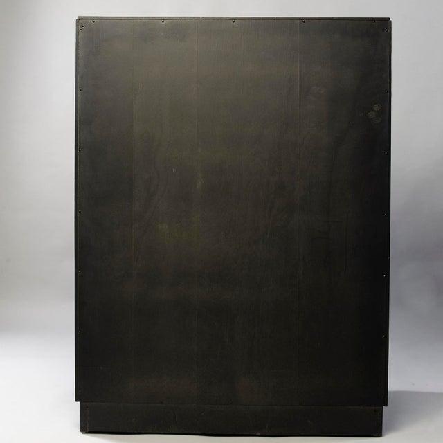 Kittinger Tall Kittinger Satin Black Chest of Drawers With Greek Key Detail For Sale - Image 4 of 13