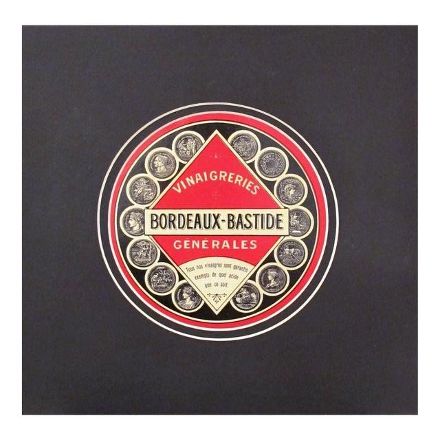 1930s French Art Deco Food Label, Vinegar - Image 1 of 4