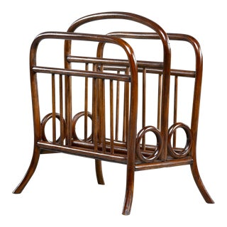 Early Thonet Bentwood Magazine Rack in Manner of Josef Hoffmann For Sale