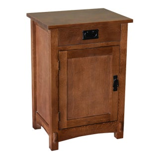 Crafters and Weavers Mission/Arts and Crafts 1 Drawer Nightstand - Golden Brown For Sale