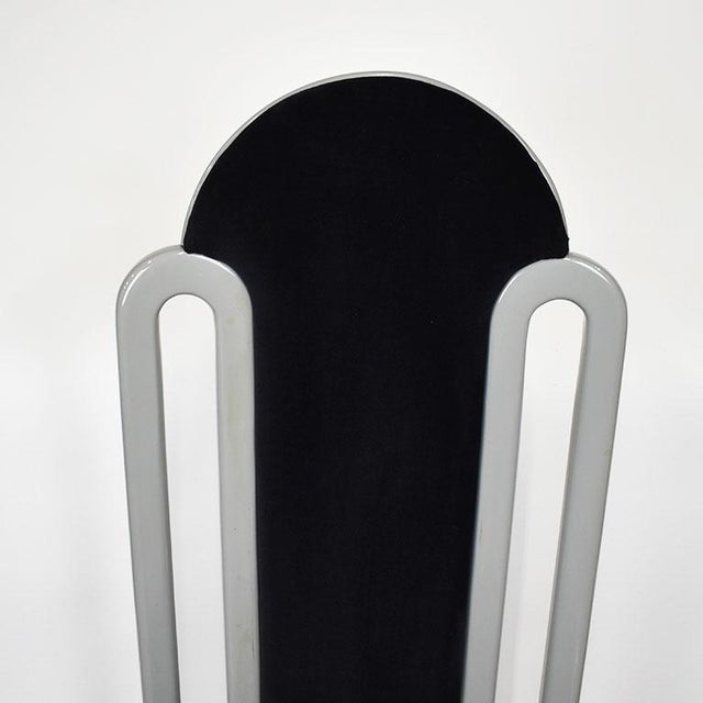 Black Italian Upholstered Velvet Art Deco Dining Chair - Late 20th Century For Sale - Image 4 of 7