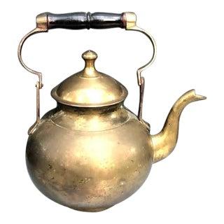 1950s Mid Century Brass Teapot For Sale