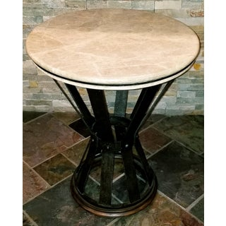 Jonathan Charles Iron Round Marble Table Preview