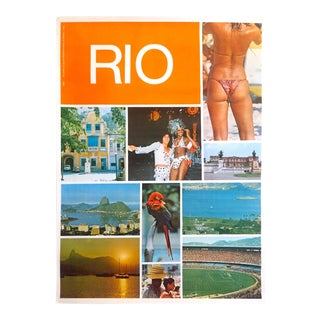 Rio De Janeiro Rare Mid Century 1960's Authentic Vintage Collector's Brazil Travel Poster For Sale