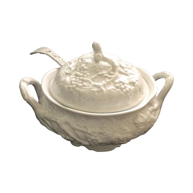 Vintage Soup Tureen & Ladle For Sale
