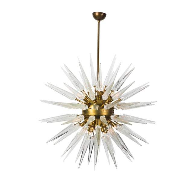 Sputnik Spike Chandelier with Murano Glass For Sale - Image 4 of 4