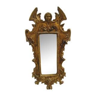 Italian Rococo Gilt Distressed Wall Mirror For Sale