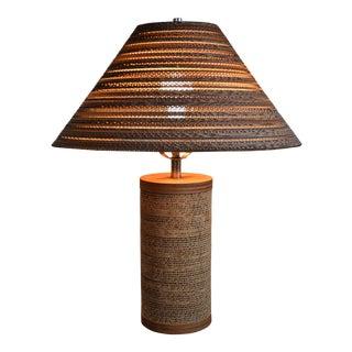 Gregory Van Pelt for Raymor Cardboard Lamp With Shade