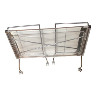 Kartell Clear Acrylic Lucite Flip Cart For Sale