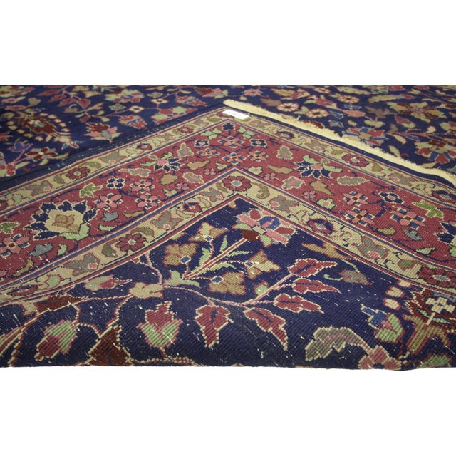 """Early 20th Century Antique Indian Area Rug -8' X 10'1"""" For Sale - Image 4 of 6"""