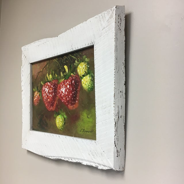 Cottage C. Ronnett Strawberry Still Life Oil Painting For Sale - Image 3 of 6