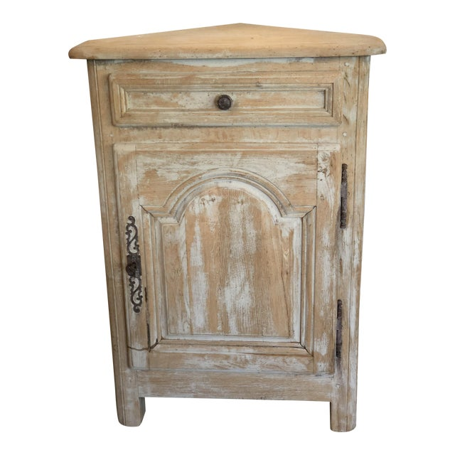 Louis XV Bleached Oak Corner Cabinet For Sale