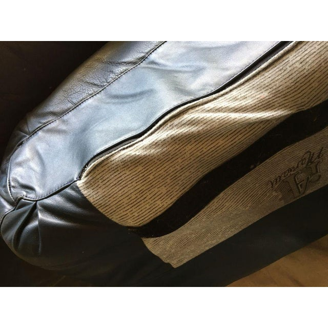 Blue Vintage I4 Mariani Molto+Di Italian Leather Sectional For Sale - Image 8 of 9