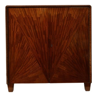 Parquetry Cabinet in the Jean-Michel Frank Manner For Sale