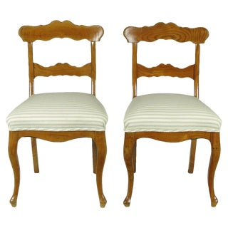 Biedermeier Side Chairs - A Pair For Sale
