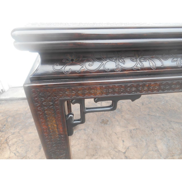 John Widdicomb Chinoiserie Console Table For Sale - Image 6 of 13