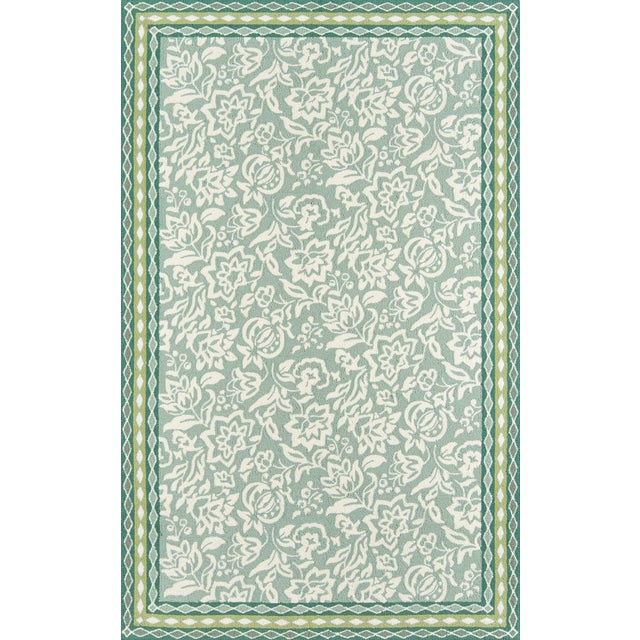 Madcap Cottage Under a Loggia Rokeby Road Green Indoor/Outdoor Area Rug 5' X 8' For Sale