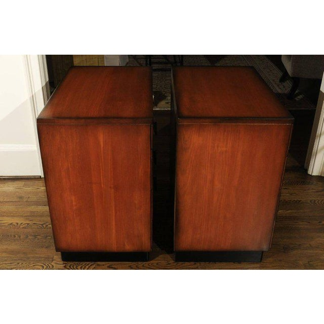 Brass Rare Restored Pair of Commodes by John Wisner for Ficks Reed, Circa 1954 For Sale - Image 7 of 11
