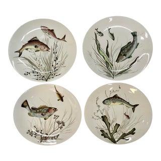 Set of Four Vintage Johnson Bros.,England Fish Plates . For Sale