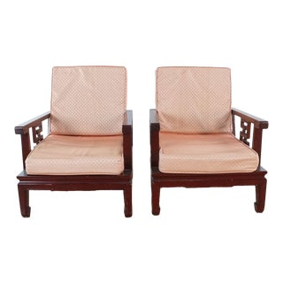 Vintage Chinese Meditation Chairs- A Pair For Sale