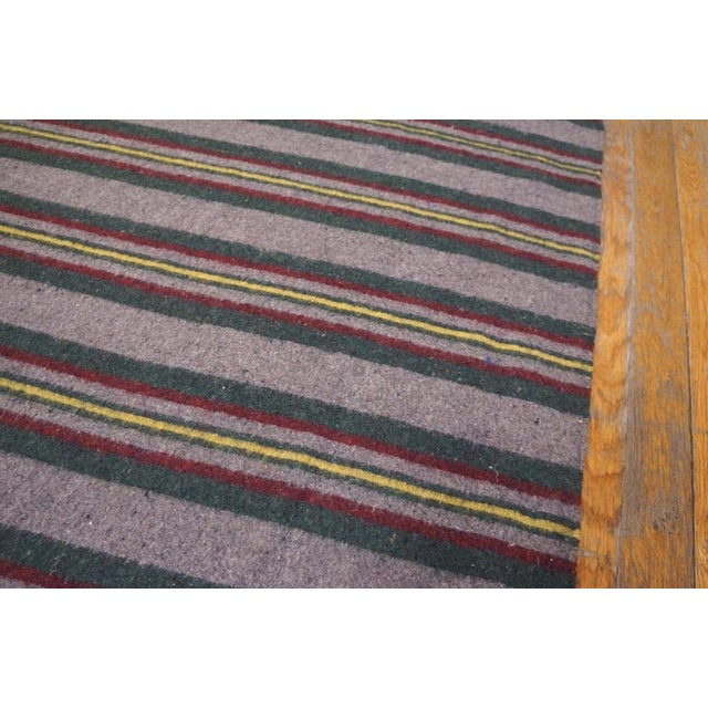 """American 1900s Antique American Rag Rug 3'2""""x32'10"""" For Sale - Image 3 of 7"""