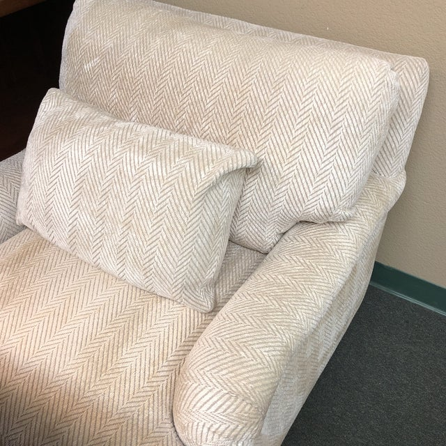 Fabric Contemporary Custom Chenille Arm Chair For Sale - Image 7 of 10