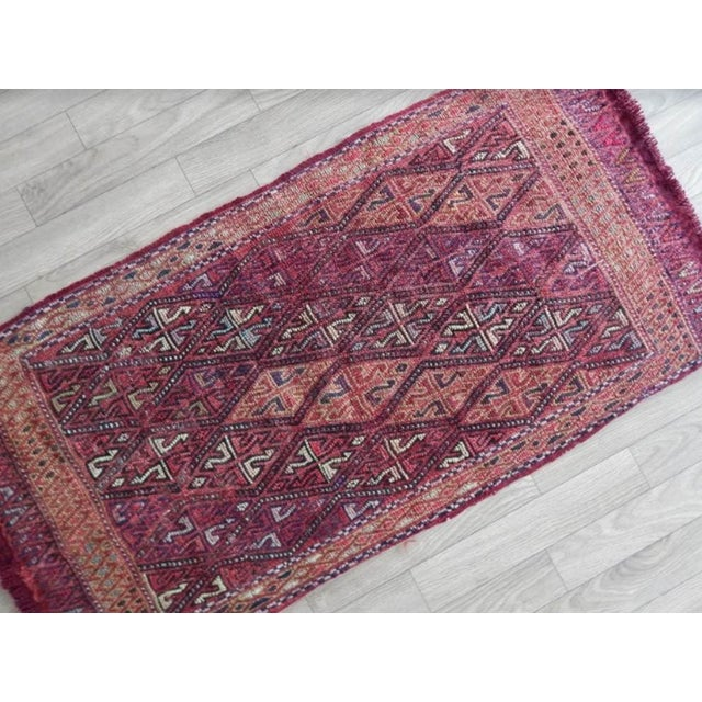 Turkish Masterwork Hand-Woven Rug Braided Small Kilim 1′8″ × 3′3″ For Sale - Image 3 of 6