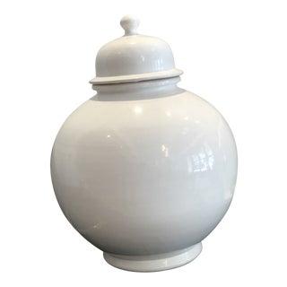 Early 20th Century Porcelain White Ginger Jar