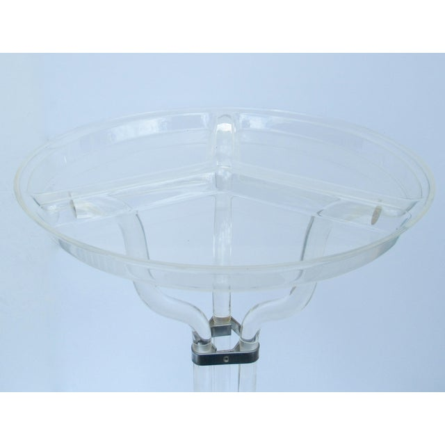 Dorothy Thorpe Lucite Server Stand With Server Platter & Insert - 3 Pieces For Sale In West Palm - Image 6 of 13