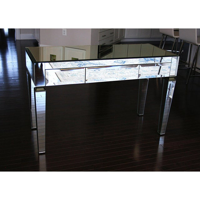 Neiman Marcus Mirrored Desk - Image 2 of 4