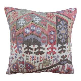 Vintage Turkish Kilim Pillow Cover For Sale