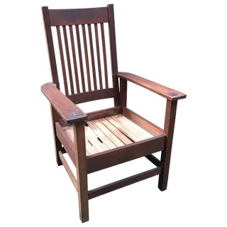 Stickley Brothers Quaint Furniture Arts & Crafts Spindle Back Armchair For Sale