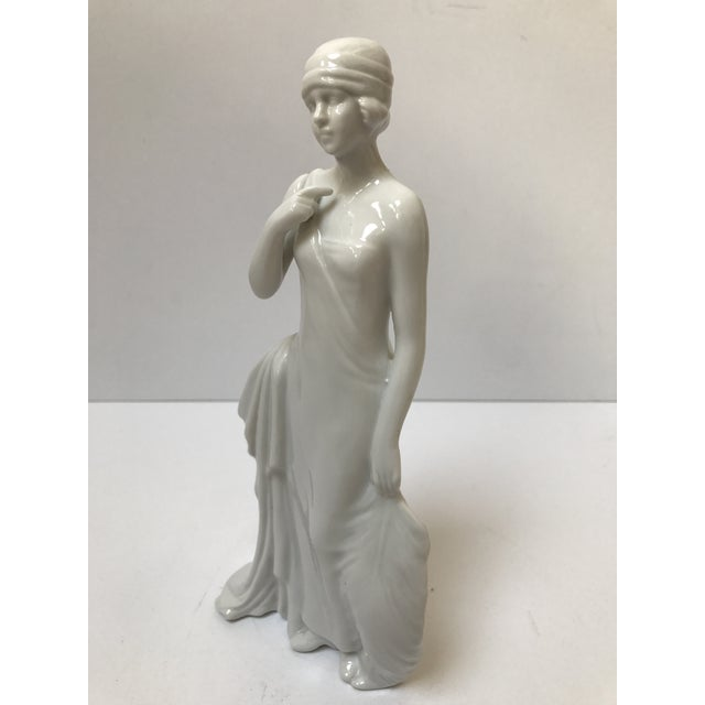 Art Deco Flapper Woman Statue - Image 8 of 8