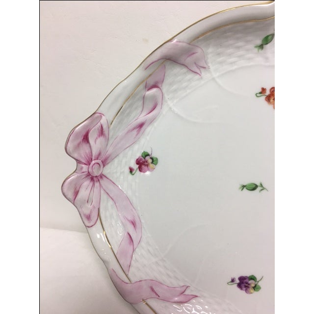 Herend Printemps Oval Ribbon Tray - Image 3 of 7