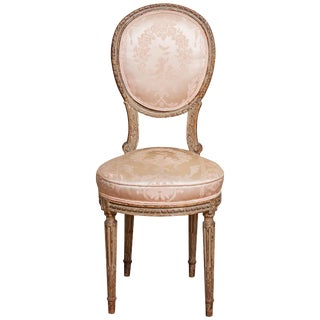 Mid 19th Century Louis XVI Style Side Chair For Sale