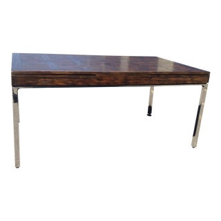 1970s Mid-Century Modern Milo Baughman Style Dining Table For Sale