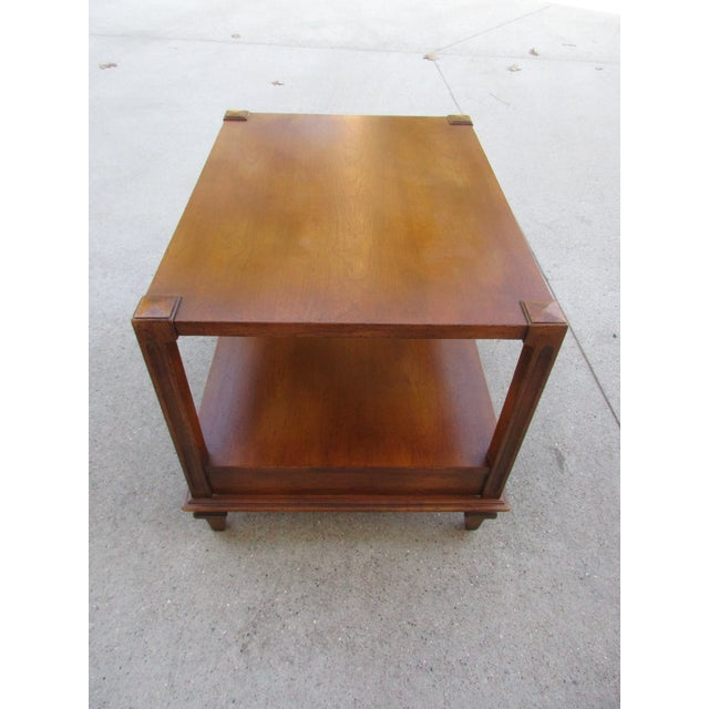 Fine Arts Furniture Co. Mid-Century Modern Fine Arts Furniture Co. Two-Tiered Side Table For Sale - Image 4 of 11