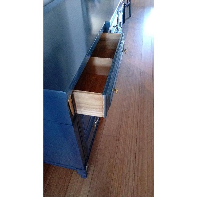 Drexel San Remo High Gloss Blue Nine Drawer Dresser Credenza For Sale In Phoenix - Image 6 of 7