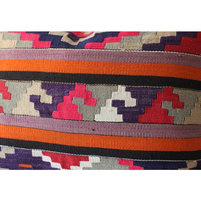 Vintage Boho Turkish Kilim Pillow - Image 4 of 4