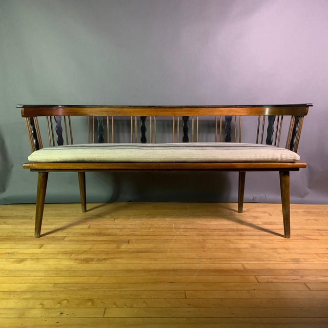 Swedish 1950s Småland Long Bench in Solid Pine For Sale - Image 4 of 11