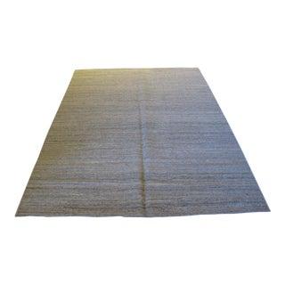 Taupe Reversible Kilim Wool Rug - 5′2″ × 7′10″